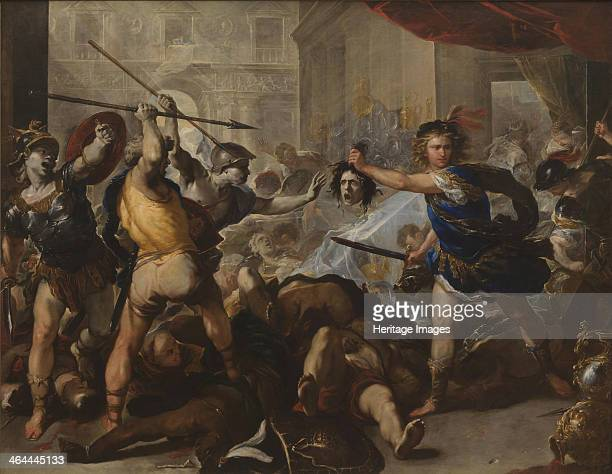 Perseus turning Phineas and his Followers to Stone, Early 1680s. Found in the collection of the National Gallery, London.