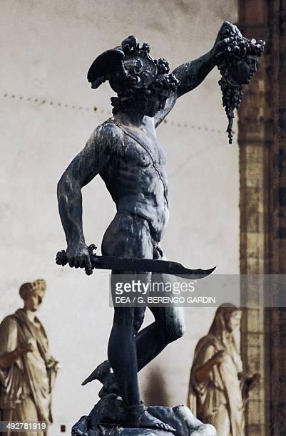 Perseus with the head of Medusa by Benvenuto Cellini Loggia dei Lanzi Florence Tuscany Italy