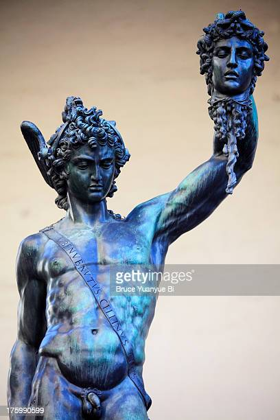 perseus with the head of medusa - medusa stock photos and pictures