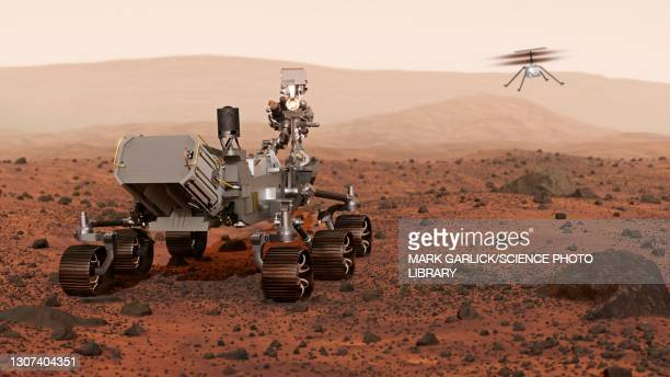 perseverance rover on mars - determination stock pictures, royalty-free photos & images