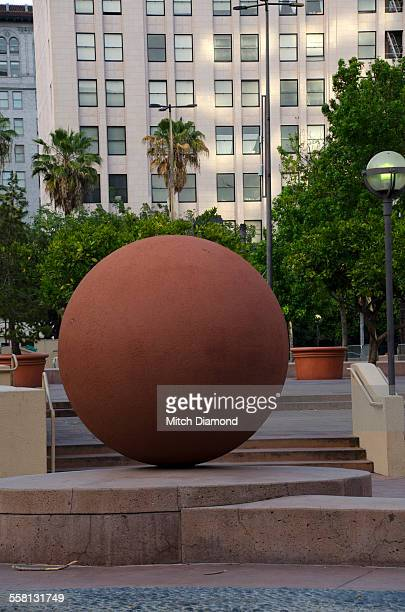pershing square in downtown los angeles - pershing square stock photos and pictures