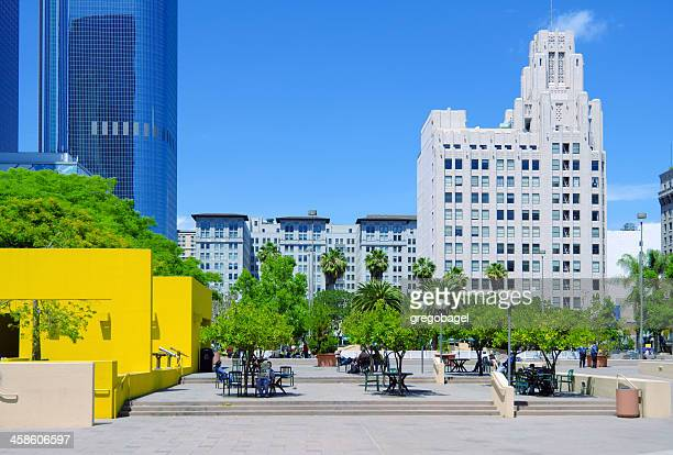 pershing square in los angeles, ca - pershing square stock photos and pictures