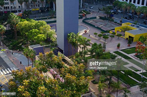 pershing square in los angeles - pershing square stock photos and pictures