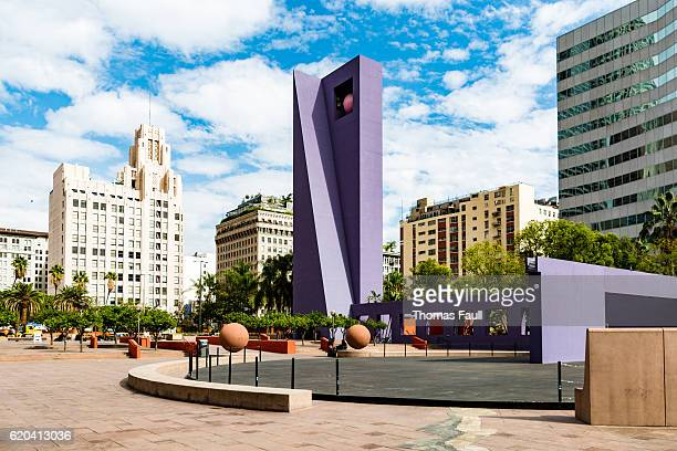 pershing square space, los angeles - pershing square stock photos and pictures