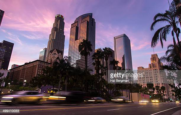 pershing square traffic - pershing square stock photos and pictures