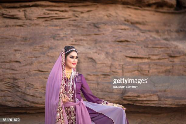 persia or iran women's in persia traditional dress - iranian culture ストックフォトと画像