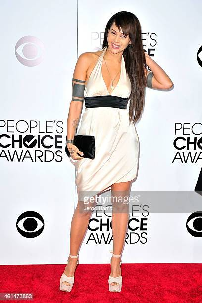 Persia White arrives at the 40th Annual People's Choice Awards at Nokia Theatre LA Live on January 8 2014 in Los Angeles California