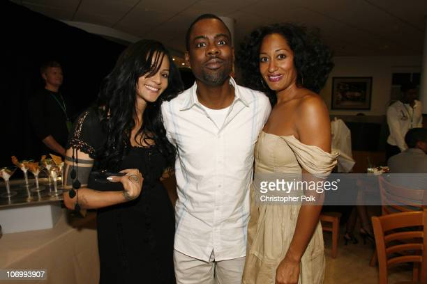Persia White Chris Rock and Tracee Ellis Ross during CW Launch Party Inside at WB Main Lot in Burbank California United States