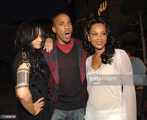 Persia White, Duane Martin and LisaRaye McCoy during The CW Launch Party - Green Carpet at WB Main Lot in Burbank, California, United States.