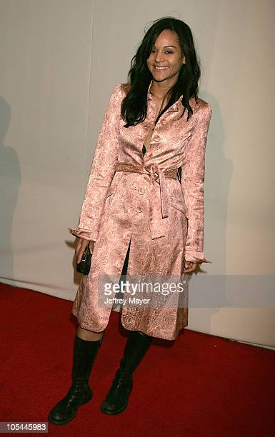 Persia White during CBS and UPN 2005 TCA Party Arrivals at Quixote Studios in Los Angeles California United States