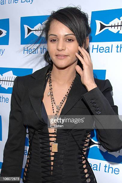 Persia White during Heal the Bay Bring Back the Beach Arrivals at Barker Hanger in Santa Monica California United States
