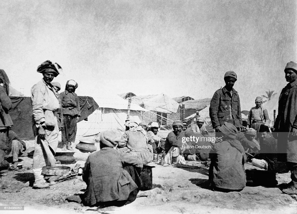 Prison Camp in Mesopotamia : News Photo