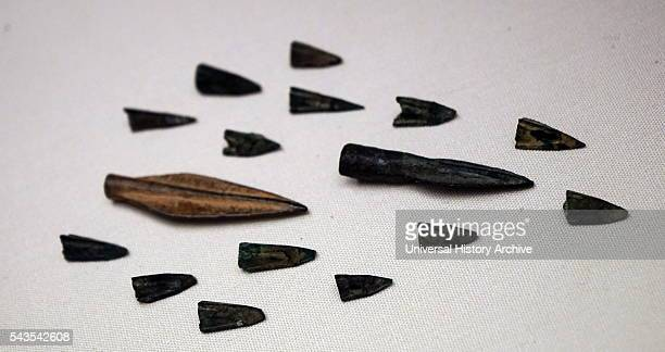 Persian arrowheads from the battle at Marathon in Attica Dated 5th Century BC