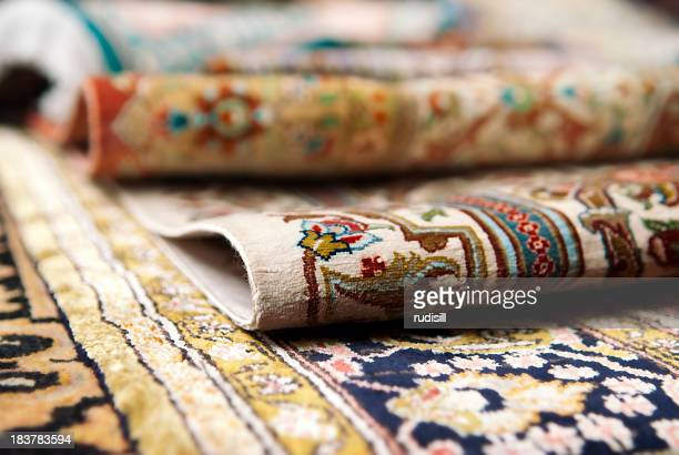 persian carpets - persian stock photos and pictures