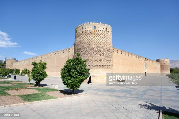 persian citadel of karim khan castle in shiraz, iran. - shiraz stock photos and pictures