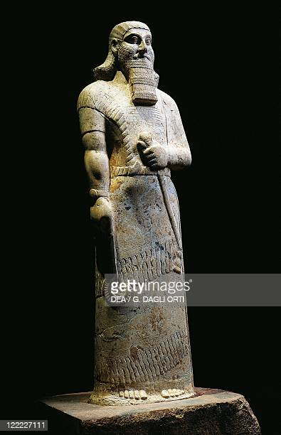 Persian civilization 9th century bC Statue of the Assyrian king Ashurbanipal 875860 bC From Nimrud Iraq