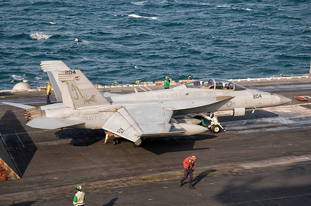 Persian Gulf, October 31, 2011 - An F/A-18F Super Hornet is ready for a mission over Iraq.