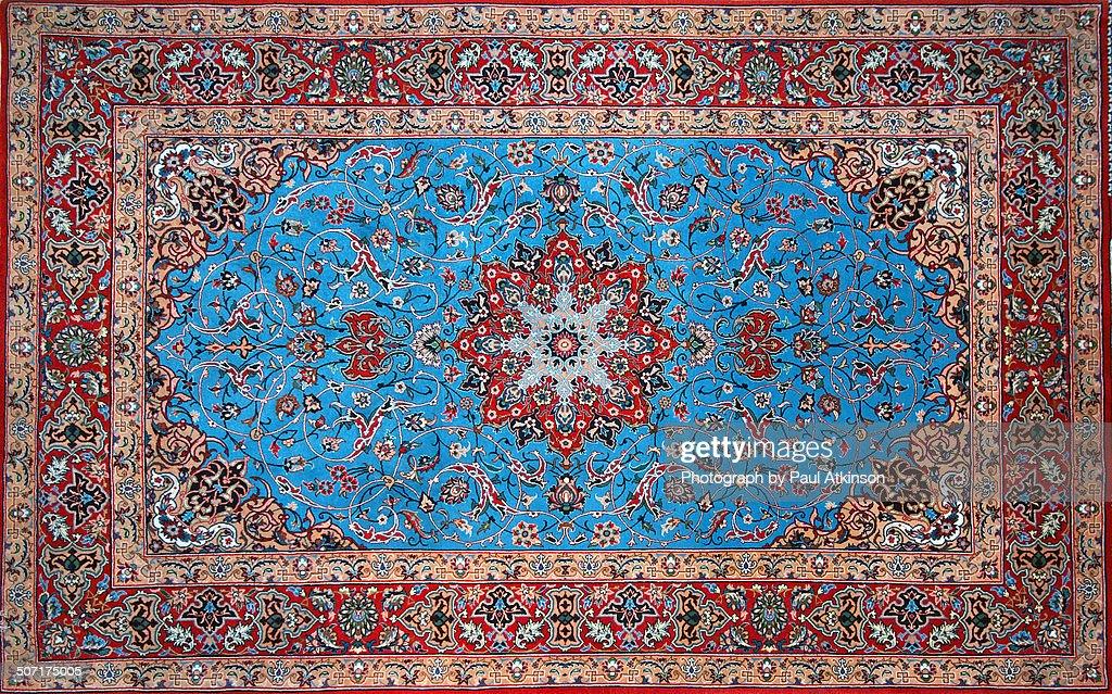 Persian Isfahan Carpet : Stock Photo