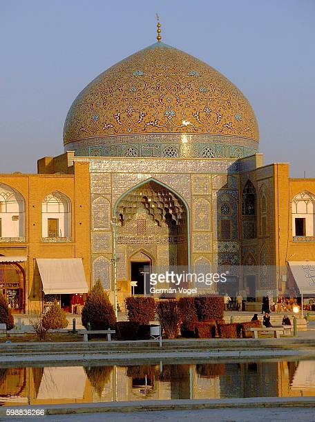 Persian Islamic architecture of the Sheikh Lotfallah mosque of Isfahan