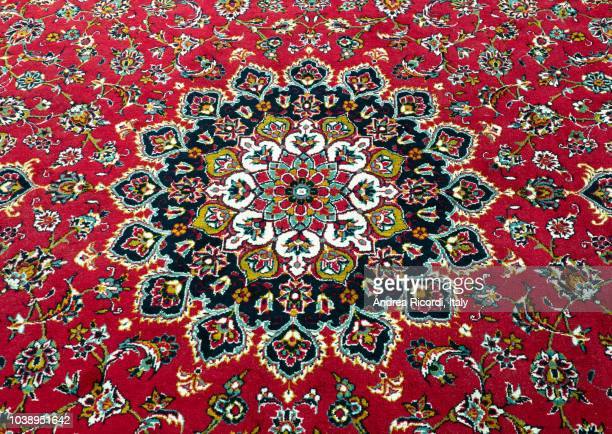 persian rug detail - persian rug stock photos and pictures