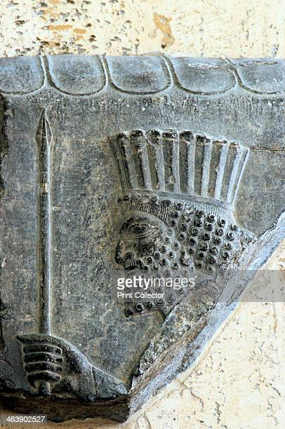 Persian spearman 5th century BC Basrelief from the palace of Darius I King of Persia at Persepolis