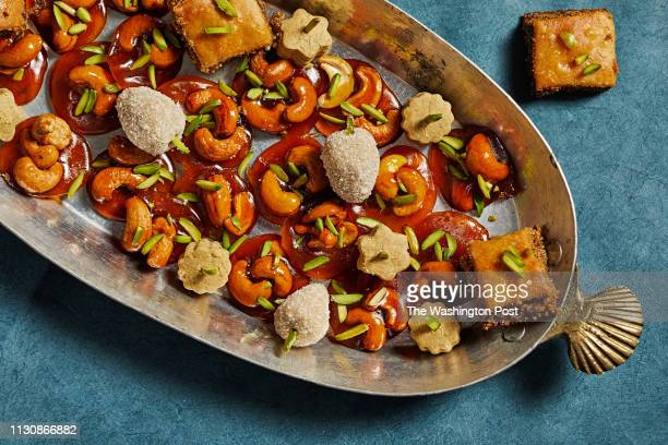 Persian sweets for Nowruz Photographed for the Food Section of The Washington Post via Getty Images in Washington DC