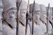 Persian warriors in line