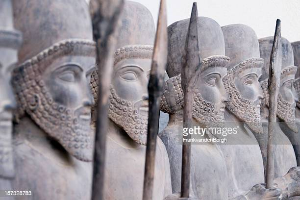persian warriors in line - persian stock photos and pictures