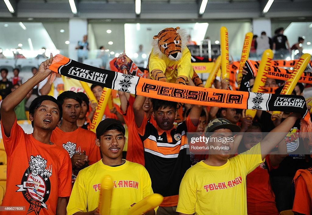 Persija Jakarta supporters during the international friendly match between Perija Jakarta and AFC Ajax on May 11, 2014 in Jakarta, Indonesia. AFC Ajax win the game with score 3-0.