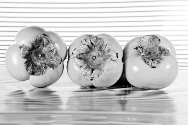 persimmon fruit in modern presentation