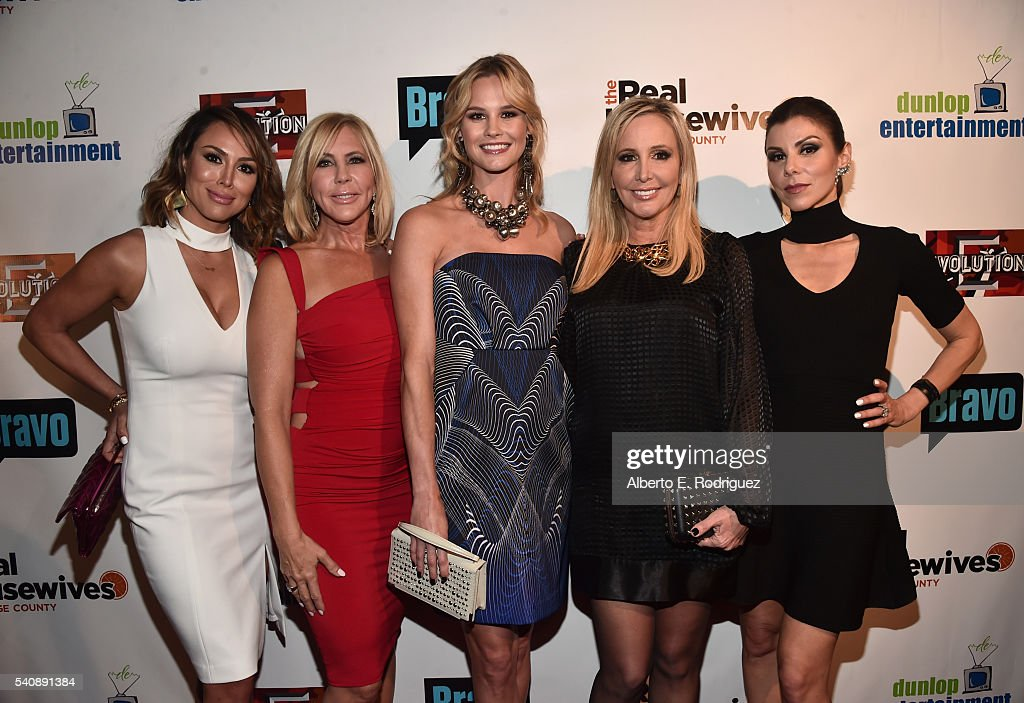 "Premiere Party For Bravo's ""The Real Housewives Of Orange County"" 10 Year Celebration - Red Carpet : News Photo"