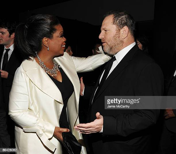 TV persoanlity Oprah Winfrey and producer Harvey Weinstein attend Time's 100 Most Influential People in the World Gala at the Frederick P Rose Hall...