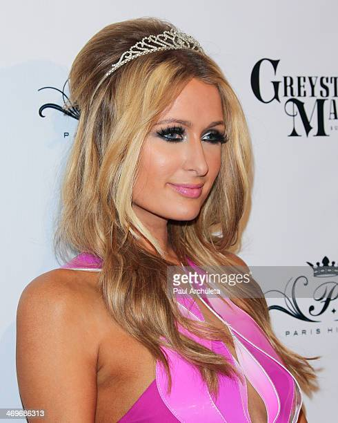 Persoanlity Paris Hilton attends her birthday party at Greystone Manor Supperclub on February 15 2014 in West Hollywood California