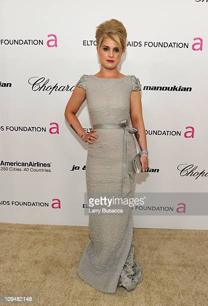 TV persobnalitie Kelly Osbourne arrives at the 19th Annual Elton John AIDS Foundation Academy Awards Viewing Party at the Pacific Design Center on...
