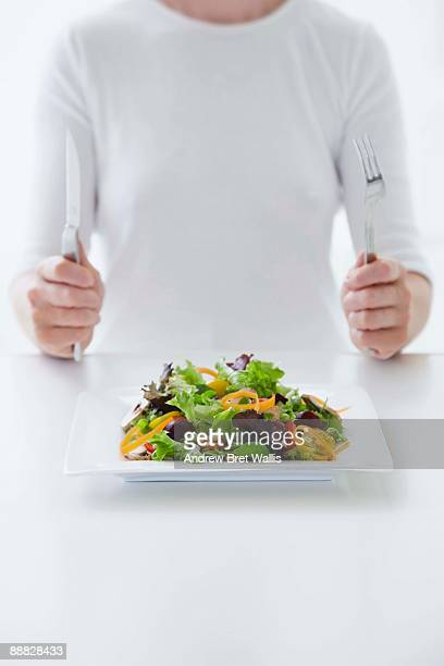 Person and a salad