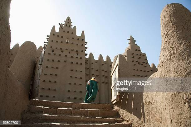 Person At Grand Mosque In Djenne Mali