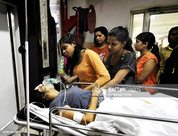 A person critically injured in the accident was admitted to Kailash Hospital as a private bus rammed a school bus from behind in between which an...