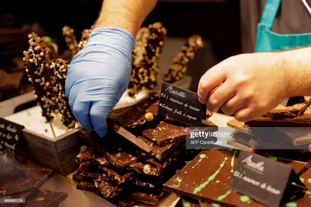 FRANCE-AGRICULTURE-GASTRONOMY-CHOCOLATE : News Photo
