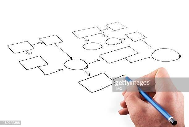 A person drawing a design on a white background