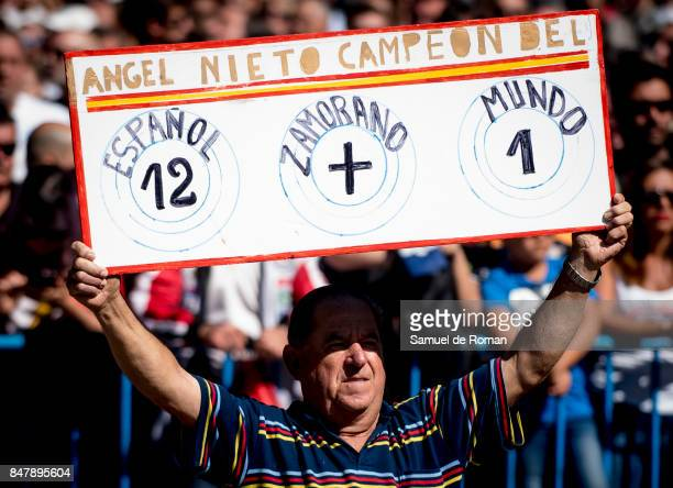 Person during Funeral Tribute For Angel Nieto in Madrid on September 16 2017 in Madrid Spain