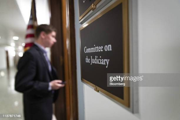 A person enters a US Senate Judiciary Committee office in the Dirksen Senate Office building in Washington DC US on Thursday April 18 2019 Attorney...