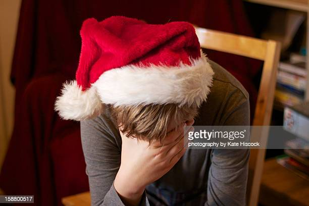 A person feeling sad a Christmas