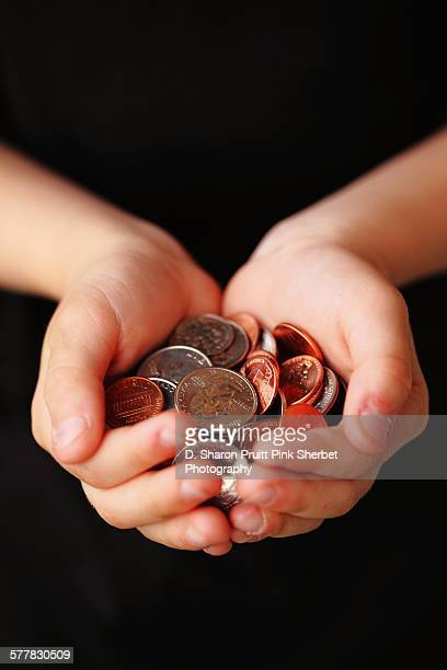 Person Holding American Coins