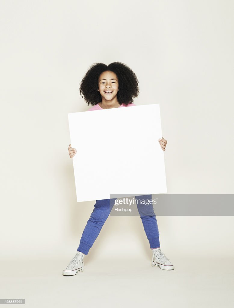 person holding blank card photo  getty images
