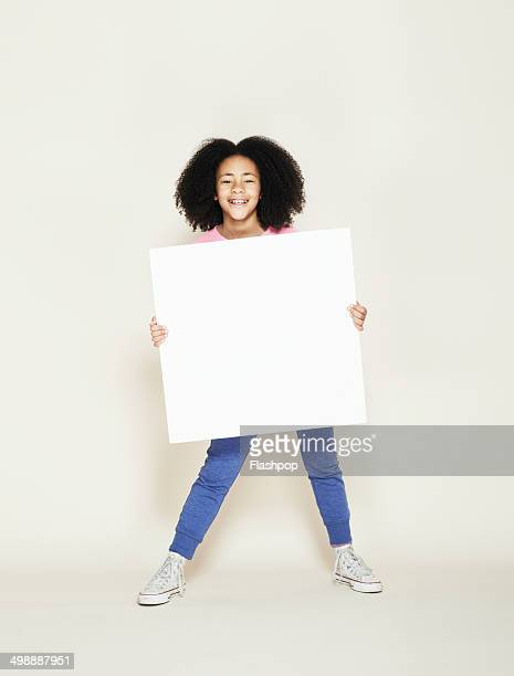 person holding blank card - placard stock pictures, royalty-free photos & images