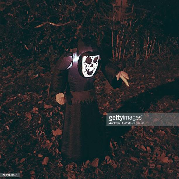 Person In Devil Costume On Halloween Day