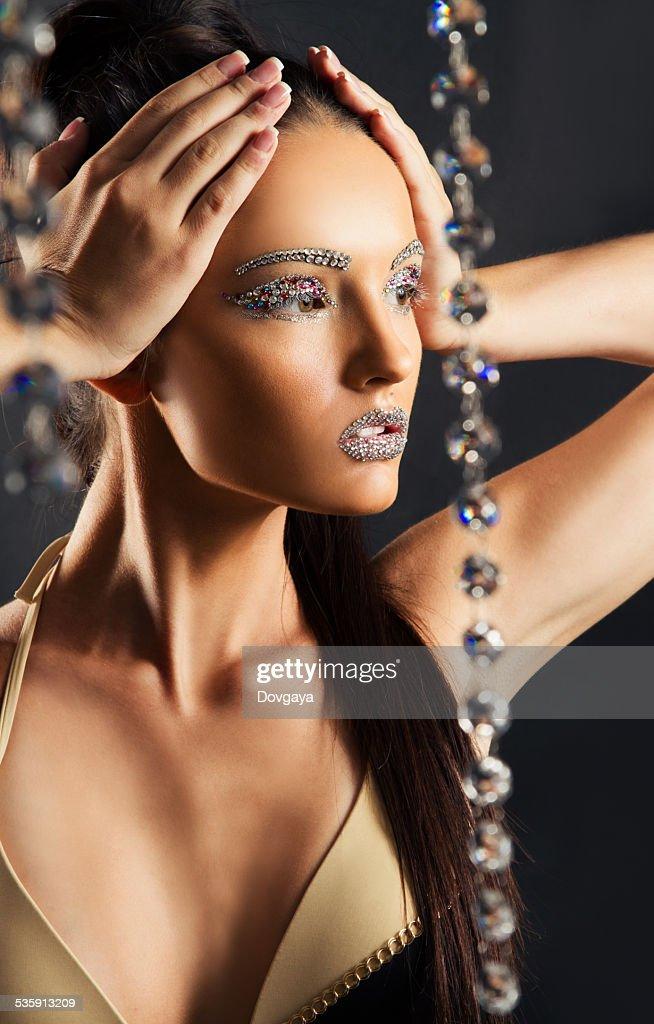 Persona en jewels : Foto de stock