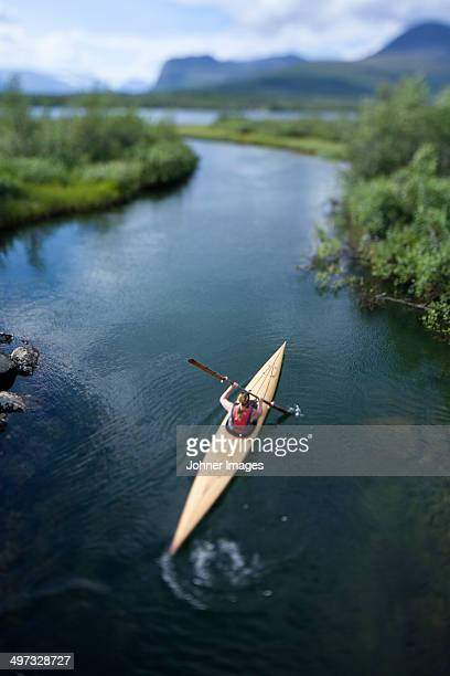 Person kayaking, Sweden