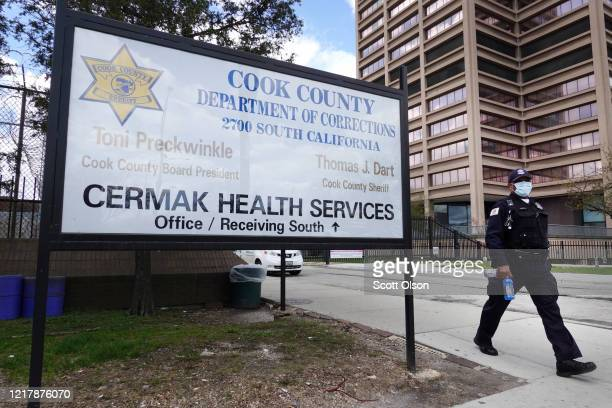 A person leaves the Cook County jail complex on April 09 2020 in Chicago Illinois With nearly 400 cases of COVID19 having been diagnosed among the...