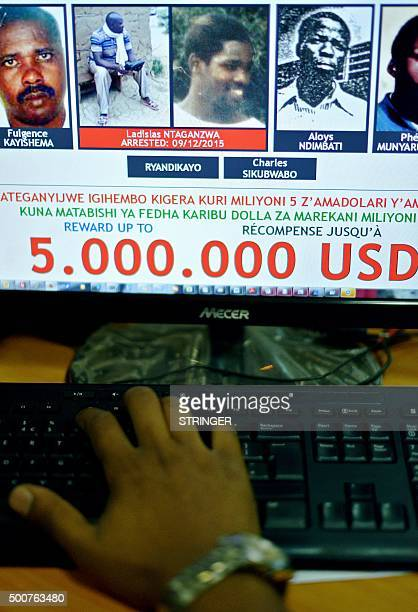A person looks at the website of the United Nations Mechanism for International Criminal Tribunals after it confirmed the arrest of Ladislas...